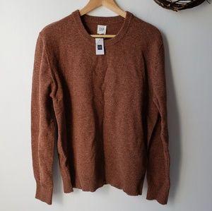 Gap men's merino wool blend crew neck sweater